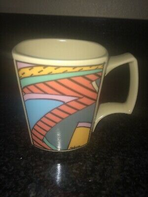 Rosenthal Dorothy Hafner Mug Vintage 80s Ceramic Fun Cup German Design Art