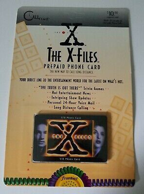 The X Files 1995 Frontier PRE PAID Phone Card NEW IN PACKAGE