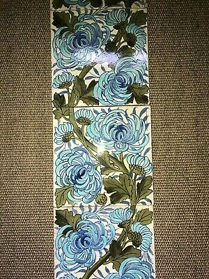 "RARE ARTS & CRAFTS DOULTON LAMBETH 6 X 8"" TILE PANEL +1 c.1900 marks BS? & 527"