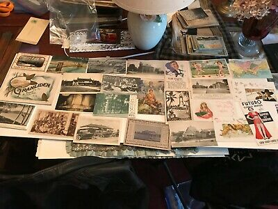 Nice assortment  of 25  Mixed lot  of Vintage postcards   T