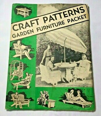 Craft Patterns Garden Furniture Packet by A.Neely Hall Vintage 1950's