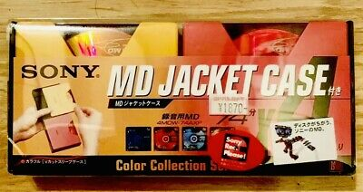 Minidisc Mini Disc Md Sony Jacket Case Japan Color Collection Rare Collectors
