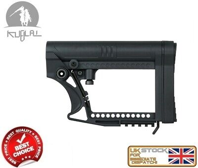 M Series Black Buttstock Tactical Airsoft Stock Aeg As.g092-Bk