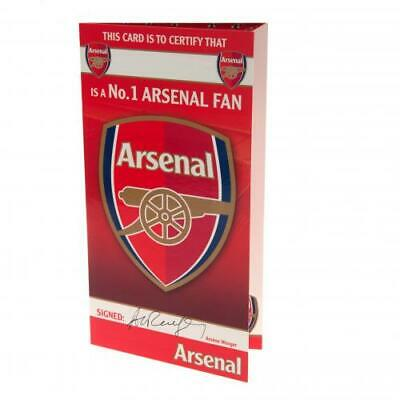 ARSENAL FC GUNNERS BIRTHDAY CARD No 1 FAN  WITH ENVELOPE PRESENT NEW XMAS GIFT