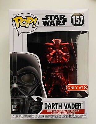 Funko Pop! Darth Vader Red Chrome Target Card Exclusive Star Wars Brand New 157