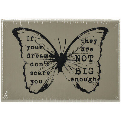 """Prima Marketing Finnabair Wood Mounted Stamps 2.5""""X1.75""""-Butterfly #1 (3Pk)"""