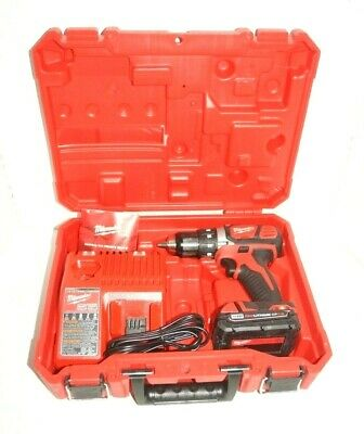 """Milwaukee M18 1/2"""" Drill/Driver Kit 2606-20 2 Batteries/Charger and Case New"""