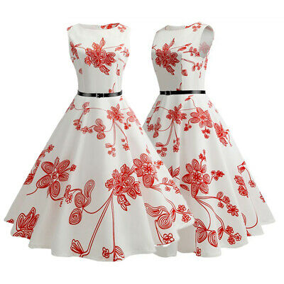 Women 50s Vintage Style Pinup Swing Evening Party Rockabilly Casual Work Dresses