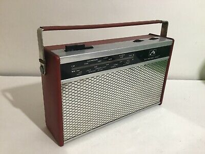 Vintage HMV His Masters Voice Transistor Radio Working .