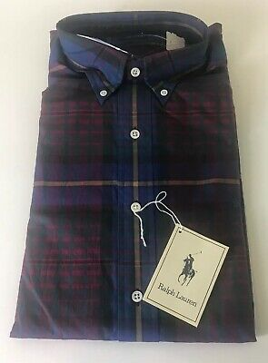 Plaid Polo Lauren Newwtags Ralph By Blue Horse Vintage Rare Men's 1TlJcFK3