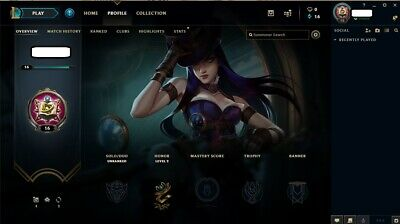 League of Legends account EUW -Unranked--15 champions--