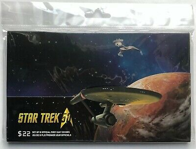 2016 STAR TREK Canada - 8 Stamps, $22 Face OFDC Complete Post Office SEALED Set