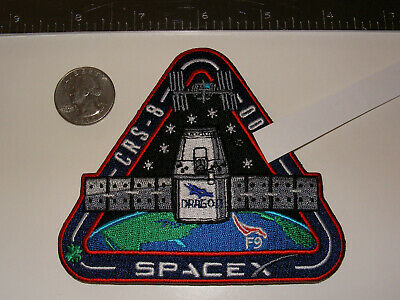 SpaceX High Seniority Employee Serial Numbered CRS-8 Patch (# < 100) F9-023 NASA