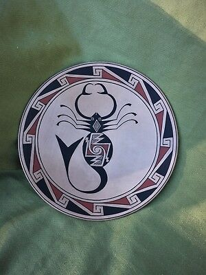 American Indian Vintage Plate With Scorpion