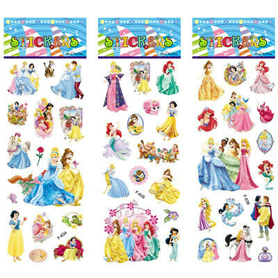 1X Sheet Princess stickers for kids