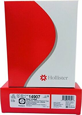 "Hollister New Image Pre-Cut Skin Barrier 2-1/4"" Flange 1-3/8"" Stoma 5/bx 14907"