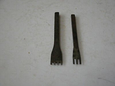 2)  Forked Cutting Stamping Punches Pinking iron