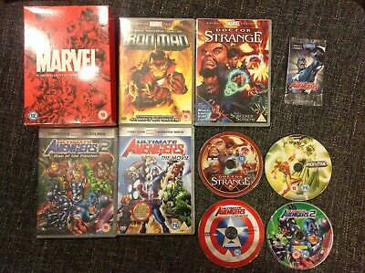 Marvel Animated Movie Collection 4 Disc DVD Collection 2008 - Iron Man, Avengers