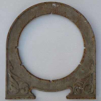 c.1920s HECLA CAST IRON FRONT FASCIA PLATE FOR BEEHIVE ELECTRIC HEATER FIREPLACE