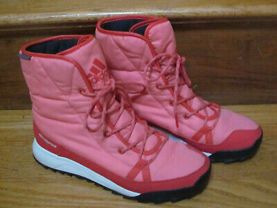 24a1ebdbdaf79 $150 Adidas Ankle Boots Terrex Choleah Padded Cp Primaloft Climaproof Pink  7 M