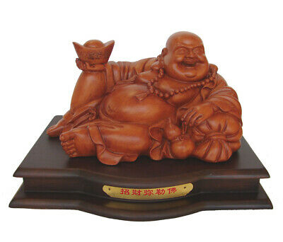 "12"" Chinese Lying Down Happy Money Buddha"