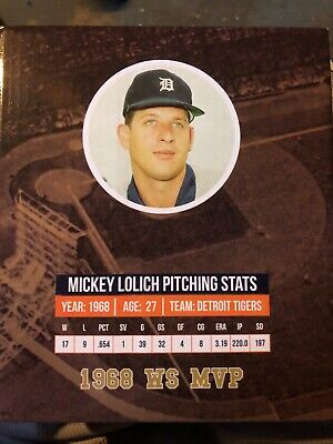 2018 Mickey Lolich SGA Bobblehead Detroit Tigers Ticket Package Variation 50th