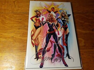 Captain Marvel #1 COVER #F J SCOTT CAMPBELL VARIANTS! Signed W/COA Convention EX