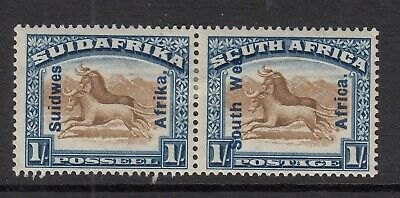 South West Africa 1927 1s Brown & Blue SG51  Mtd Mint
