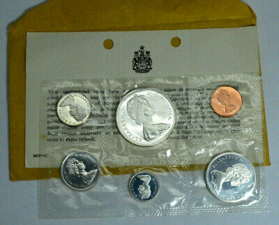 1867-1967 Silver Canada 6 Coin Proof-Like Set Mint Sealed In Yellow Envelope,