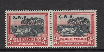 South West Africa: 1927/30 ~ 3d Black & Red (SG 61) ~ Mounted mint