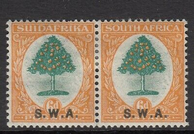 SOUTH WEST AFRICA SG63 1927 6d GREEN & ORANGE - Mounted mint