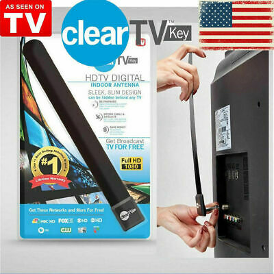 New As Seen on TV Clear TV Key FREE HDTV TV Digital Indoor Antenna Ditch Cable