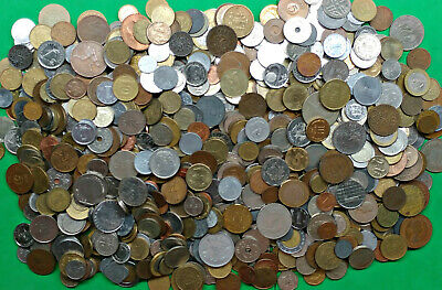 Lot of 8.1 lbs Mixed World Foreign Coins Pounds of Fun !! bulk bag kg WCMB