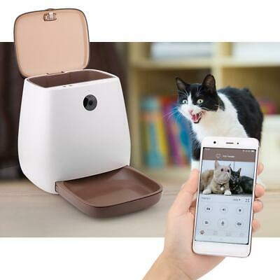 110V Pet Dog Puppy Cat Electric Auto Food Feeder Smart Remote App With Camera SP