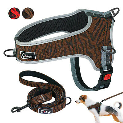No Pull Front Leading Dog Harness&Leash Adjustable Reflective Padded Vest M L XL