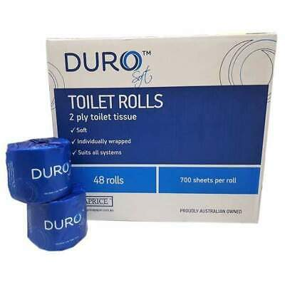 Caprice Duro Soft Toilet Roll 48 Rolls X 700 Sheets