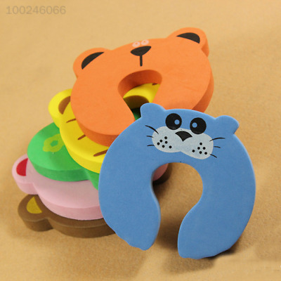 9A09 Baby Kids Safety Protect Anti EVA Animal patterns Safe Card Door Stopper
