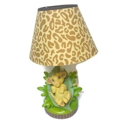 The Lion King Lamp Disney Baby Lion Simba Rare Discontinued / Works with Shade