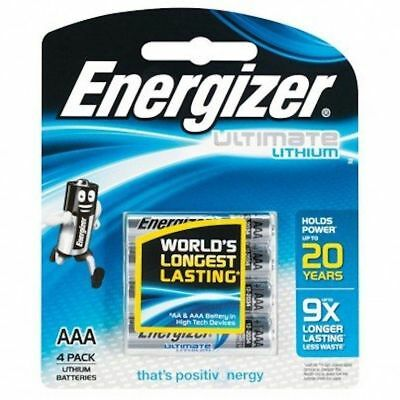 4 x pack  of Energizer  AAA Ultimate Lithium shelf life of up to 20 year shelf
