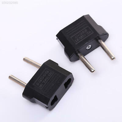 5CA6 Hot 5Pcs US/USA to European Travel Charger Adapter Plug Outlet Useful Tool