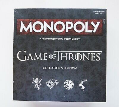 MONOPOLY The Game Of Thrones Collectors Edition - USED - Local pick up only