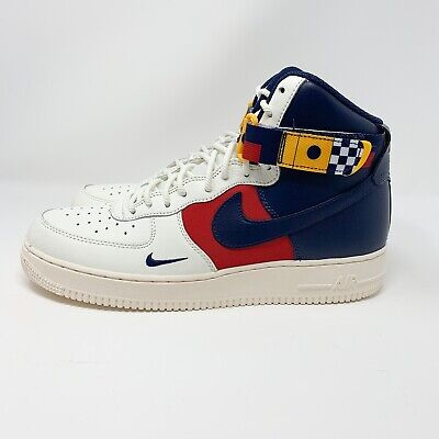 new concept 0c3d6 0f450 Nike Men's Air Force 1 High 07 LV8 Sail/Navy Nautical Redux AR5395 100 Size
