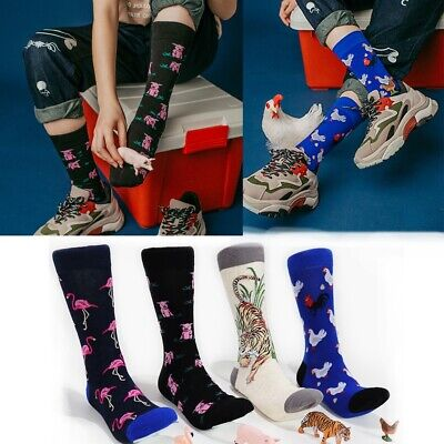 Pattern Funny Art Big Size Mens Socks Stocking Combed Cotton Winter Hosiery