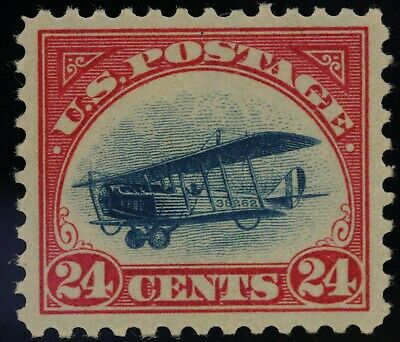 1918 US Scott# C3 - 24 Cent - Carmine Rose & Blue Mint NH OG VF/XF