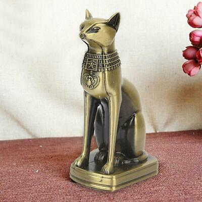 Antique Egyptian Style Bast Cat Figurine Statue Bastet Ornaments Sculpture Decor