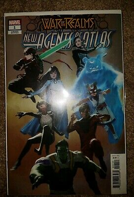 Marvel War Of The Realms New Agents Of Atlas 1 Pyeong Jun Park 1:25 Variant NM