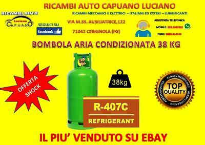 Bombola Gas refrigerante clima auto RIVOIRA/TGAS/iCOOL/GLOBALDY R407 38 KG
