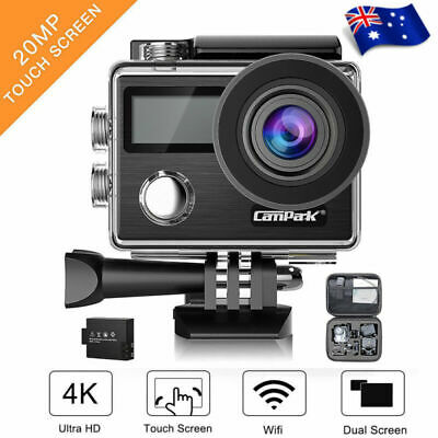 Campark X20 Action Sport Camera Touch Screen WiFi HD 4K 20MP Dual LCD Waterproof
