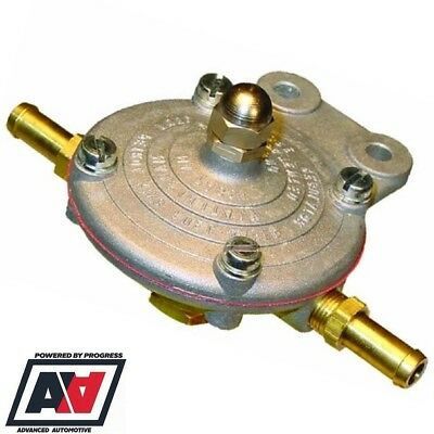 PETROL KING FUEL PRESSURE REGULATOR FOR CARBS 1.5 To 5 PSI WITH 8mm TAILS ADV