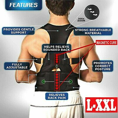 Magnetic Posture Corrector Belt Lower Back Pain Support Shoulder Brace Men Women